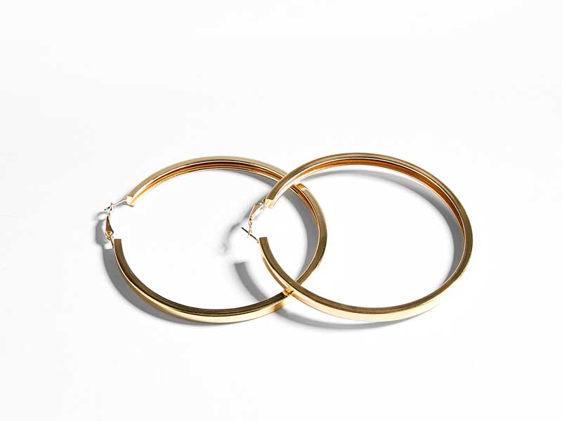 Hoop earrings by Bershka available at City Centres