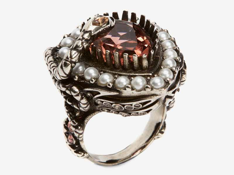 Metal and jewel ring from Alexander McQueen UAE